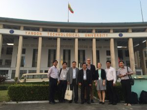 FFRC, RUPP and NUOL staff infront of the YTU main building